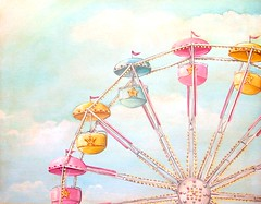 """Ferris Wheel"" (holiday_jenny) Tags: carnival pink blue summer vacation sky holiday beach yellow clouds painting print happy lights ride candy pastel nj fair retro boardwalk ferriswheel rides countyfair jerseyshore seashore"