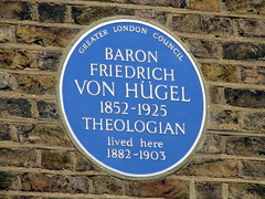 Photo of Friedrich Von Hügel blue plaque
