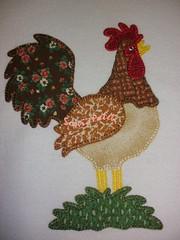 Adoro galos ...acho que são muito majestosos !!! (soniapatch) Tags: handmade embroidery crochet galo bordado crochê panodeprato