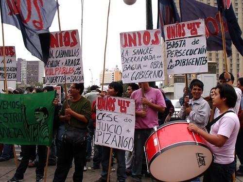 Manifestación a favor de Pizango