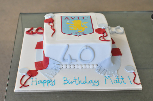 Printed picture AVFC cake