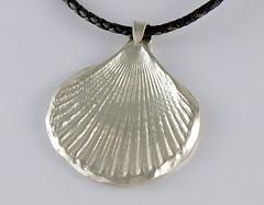 """Seashell"" Silver Necklace (EfratJewelry) Tags: silver handmade jewelry jewellery sterling 925 silversmith metalsmith sterlingsilver כסף סטרלינג תכשיטים שרשרת תליון תליונים שרשראות צורפות עיצובתכשיטים efratjewelry"