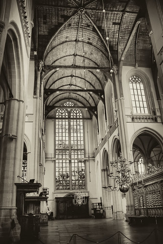 Amsterdam Church Black & White