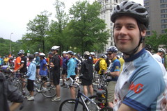 Andrew at the Bike DC registration