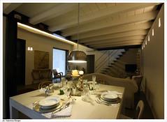 07 (Valentina Elmiger) Tags: design scala sedie tavolo divano bianco arco architettura interni travi cristallo bicchieri thonet piatti soggiorno posate castiglioni soppalco valentinaelmiger