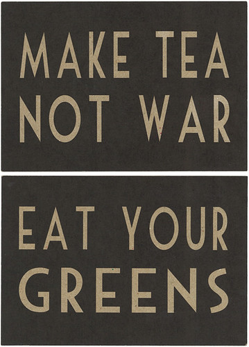 Eat and tea cards