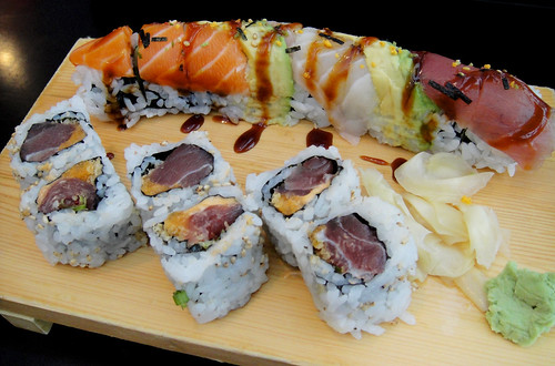 Spicy Tuna and Rainbow Roll