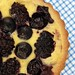 Cream Tart with Black Raspberries