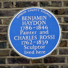 Photo of Benjamin Robert Haydon and John Charles Felix Rossi blue plaque