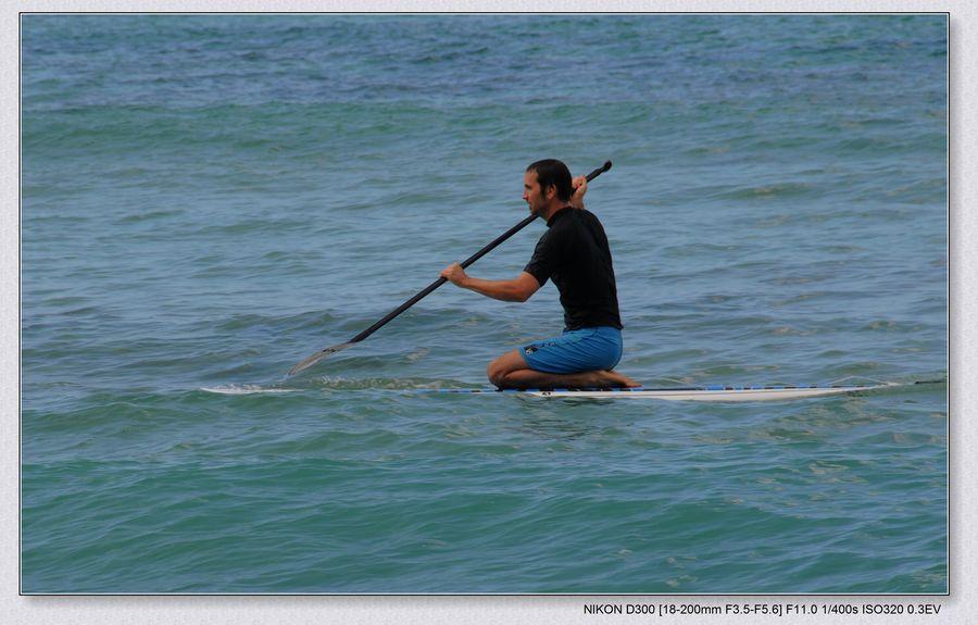 再度Waikiki 海滩(1/2)--学滑水(water ski) - 微娃 - 微娃