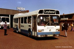 LHD Leyland National demonstrator on tour in Holland (Amsterdam RAIL) Tags: bus haarlem promotion continental demonstration pr service autobus nzh leyland lhd demonstrator promotie lefthanddrive leidsevaart lijnbus leylandnational drm590k