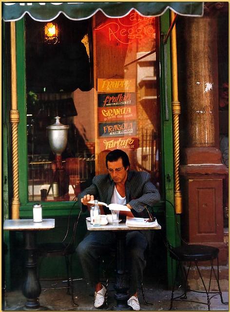 Al Pacino at Caffe Reggio - 1989