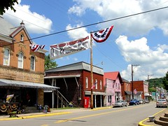 West Virginia ~ Middlebourne (erjkprunczk) Tags: street rural village tyler westvirginia americana bunting countyseat upperohiovalley middlebourne erjkprunczyk wv18