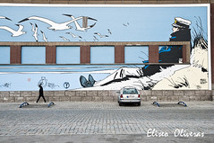 Corto Maltese in Brussels (Eliseo Oliveras) Tags: life street city brussels urban streetart art wall persona calle mural europa europe comic arte gente belgium belgique belgie painted cotidiano bruxelles ciudad daily persone vida metropolis urbano bruselas maltese rue bd brussel belgica cortomaltese carrer ville corto ciutat bandedessinee pintado hugopratt artofimages eliseooliveras eliseooliveras