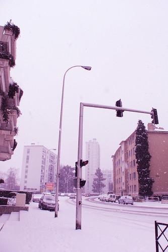 street & snow