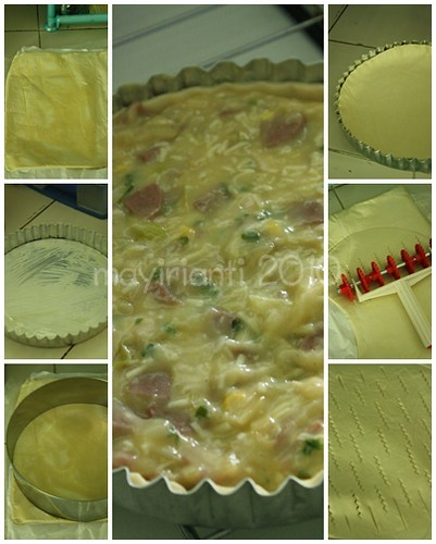 Beef & Corn Lattice Pastry - Collage