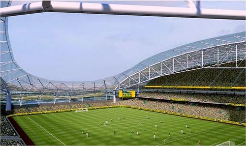 interior, Aviva Stadium, Dublin (rendering by Scott Tallon Walker Architects)