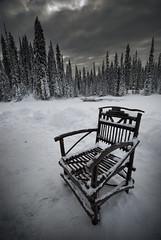 The Empty Chair (Furious Zeppelin) Tags: park lake canada nikon louise national banff emerald yoho d80 furiouszeppelin fz