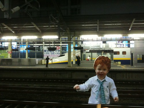 Flat Declan at train station