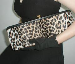 50s vintage long faux leopard clutch (denisebrain) Tags: leopardprint fauxfur vintagepurse wildvintageclothing 50sclutchbag
