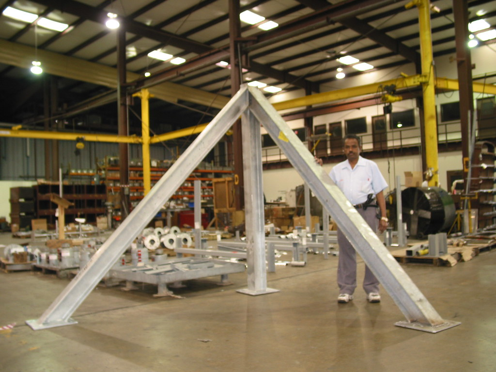 Structural Frame Posts for Power Plant