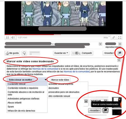 contenido inadecuado en youtube