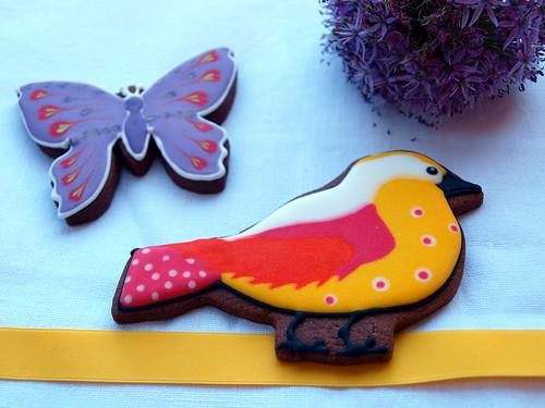 Schmetterling und Vögelchen (Kekse)