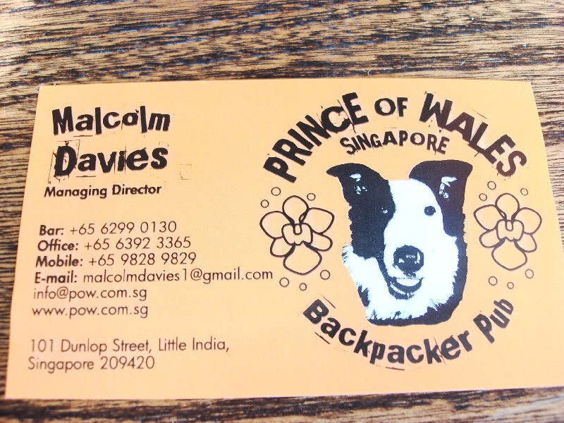 prince of wales Sg - contact