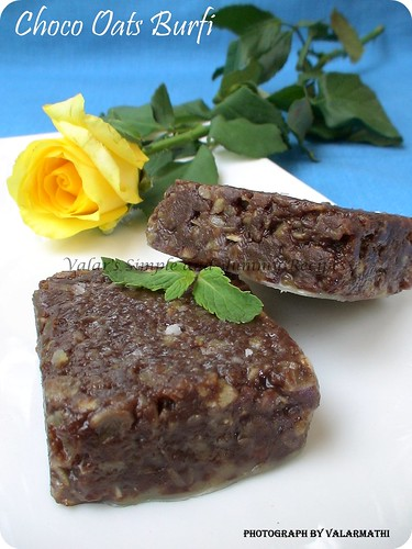 Chocolate Oats Burfi