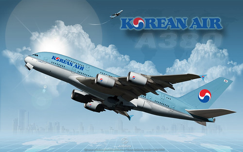 Wallpaper - KOREAN AIR - A380 - HL-8213