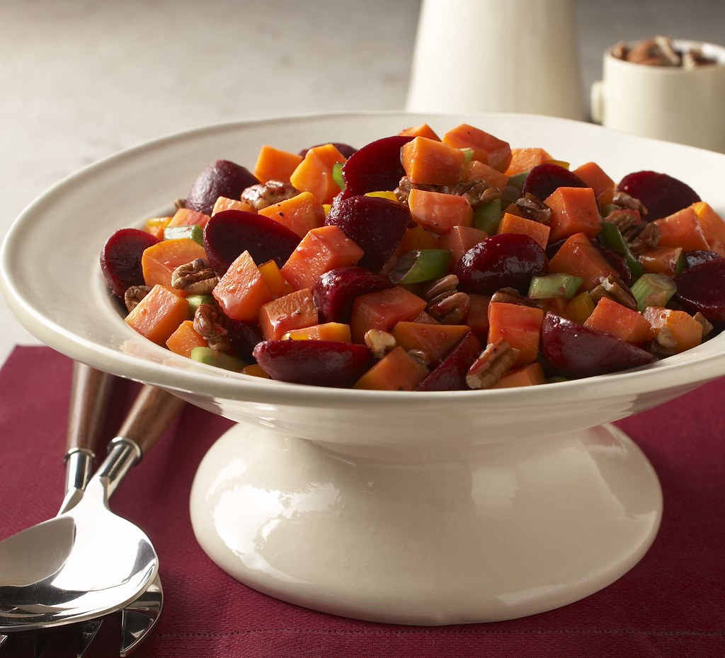 Nutty Orange-Glazed Beets and Sweet Potatoes