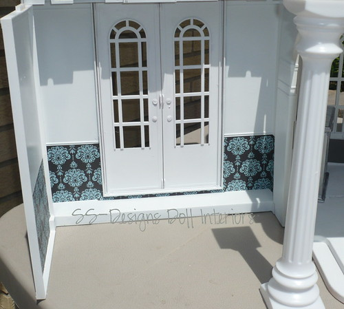 HSM Dollhouse WIP French Door Room