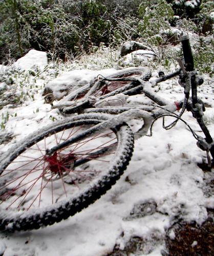 Snow bike...in June