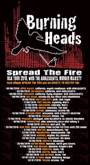 Burning Heads - US tour 2010