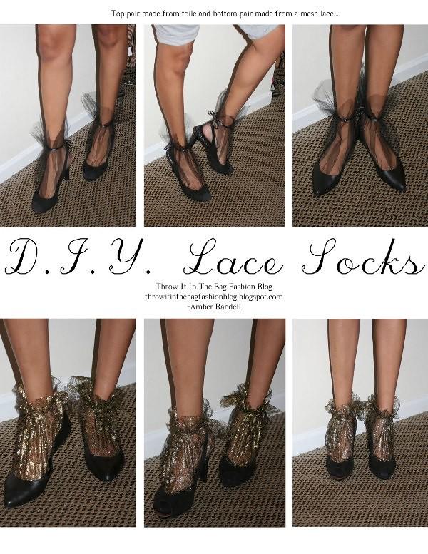 Nina Ricci inspired lace sock DIY 7