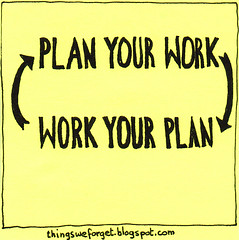 what's work without a plan? what's a plan without work?