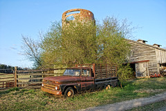 Farm Silo (Greg Foster Photography) Tags: auto classic cars chevrolet abandoned car barn rural truck georgia rust automobile decay farm country rusty pickup silo chrome forgotten vehicle weathered custom crusty abandonment decayed covington conyers kustom