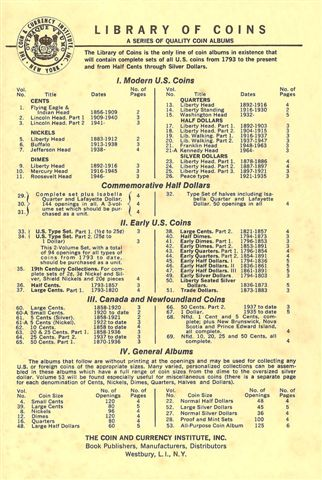 Library of Coins List 1969