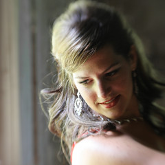At the window (Gordana AM) Tags: light portrait woman baby window girl beautiful lensbaby hair square lens long stage side thoughtful location windsor performers lb composer bellydancers ontariocanada class2010 lepaifgeo happybirthdaylensbaby