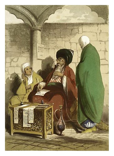014-Escribiente publico en Constantinopla-Sketches of character and costume in Constantinople 1854- Forbes Mac Bean