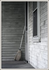 The Broom (Kookoo sabzi) Tags: door blackandwhite window porch doormat broom utatafeature ysplix yasplx