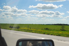 wind turbines (Chris.Conti) Tags: city chicago vw america mississippi cities roadtrip jetta siouxfalls truckwheel