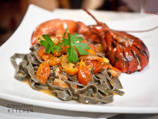 Squid Ink Pasta Lobster