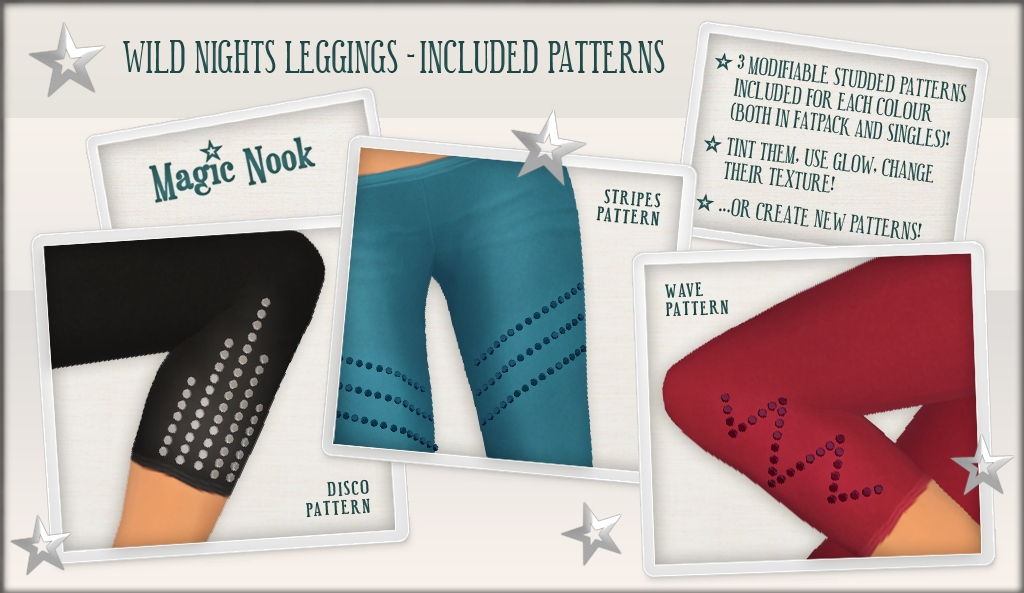 [MAGIC NOOK] Wild Nights Leggings - Included Patterns