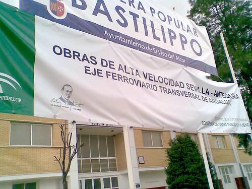 Pancarta AVE en la carrera Bastilippo 2010