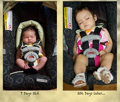 356 Days Later... (rimblas) Tags: baby carseat newborn oneyear 365alumni 365community gracosnugride32