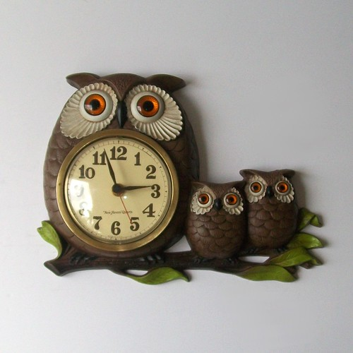 Vintage OWLETS and Owl Clock