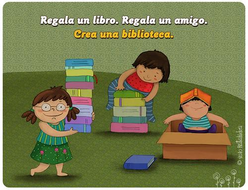 Regala un libro. Regala un amigo.