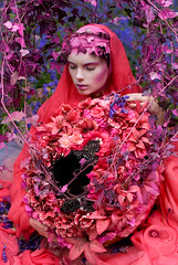 Wonderland : The Beautiful Blindness of Devotion (Kirsty Mitchell) Tags: flowers saint bluebells fairytale ania fantasy wonderland storybook enchanted pinkivy kirstymitchell elbievaneeden giantmagicalfloralegg alltheflowersaresilkandwerehanddyedpaintedbyme dreadedpapermacheagain