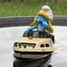 Smurfette in a boat